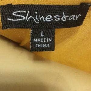 Shinestar Tops - Shinestar Mustard wrap front top - L
